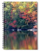 Bunganut Lake Maine Foliage 13 2016 Spiral Notebook