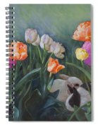 Bunnies In The Blooms Spiral Notebook