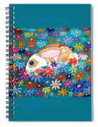 Bunny And Flowers Spiral Notebook