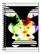 Bunny In Abstract Spiral Notebook