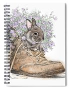 Bunny In Boot Spiral Notebook