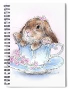 Bunny In Teacup Spiral Notebook