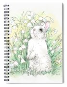 Bunny In White Spiral Notebook