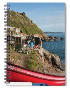 Bunty In Priest's Cove Cape Cornwall Spiral Notebook