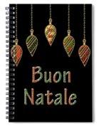 Buon Natale Italian Merry Christmas Spiral Notebook