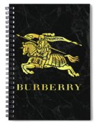 Burberry - Black And Gold - Lifestyle And Fashion Spiral Notebook
