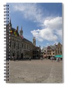 Burg Square In Bruges Belgium Spiral Notebook