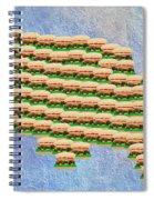 Burger Town Usa Map Spiral Notebook