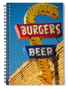 Burgers And Beer Spiral Notebook