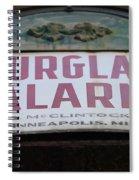 Burglar Alarm Spiral Notebook