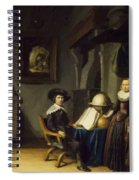 Burgomaster Hasselaar And His Wife Spiral Notebook