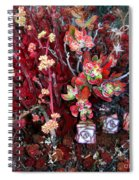 Burgundy Succulents. Multi Color Beauty Spiral Notebook