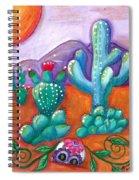 Buried Sugar Skull In Desert Spiral Notebook