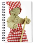 Burlap Doll Close-up View Spiral Notebook