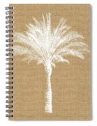 Burlap Palm Tree- Art By Linda Woods Spiral Notebook