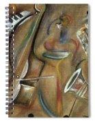 Burlap Sax Spiral Notebook