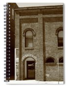 Burlington North Carolina - Arches And Alley Sepia Spiral Notebook
