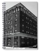 Burlington North Carolina - Main Street Bw Spiral Notebook