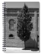Burlington, North Carolina Sidewalk Bw Spiral Notebook