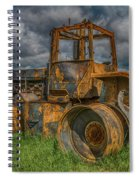 Burned Out Farm Tractor Spiral Notebook