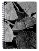 Burned Wood In The Pile Spiral Notebook