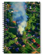 Burnin Down The House Aerial Single Family Home On Fire  Spiral Notebook