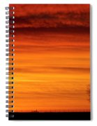 Burning Country Sky Spiral Notebook