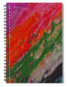 Burning Lava Spiral Notebook