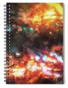 City Of Burning Lights Spiral Notebook