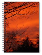 Burning Sky Spiral Notebook