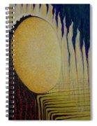 Burning Yellow Spiral Notebook