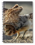 Burrowing Owlet Workout Spiral Notebook