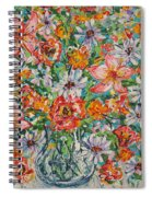 Burst Of Flowers Spiral Notebook