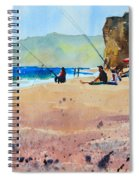 Burton Bradstock Beach Spiral Notebook