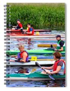 Burton Canoe Race At The Start Spiral Notebook