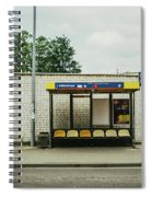 Bus Stop In Poland Spiral Notebook