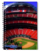 Busch Stadium A Zoomed View From The Arch Merged Image Spiral Notebook