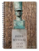 Bush Behind Piotr Wysocki Bust Spiral Notebook