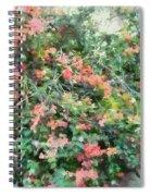 Bush Full Of Flowers. Spiral Notebook