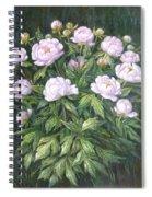 Bush Of Pink Peonies Spiral Notebook