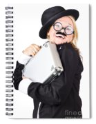Business Woman In Disguise Spiral Notebook