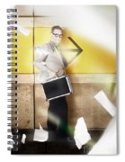 Businessman Walking In Direction Of Road Arrow Spiral Notebook