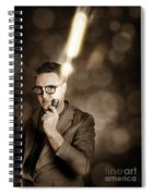 Businessman With Bright Solution Idea Spiral Notebook