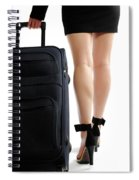 Businesswoman With A Trunk Spiral Notebook