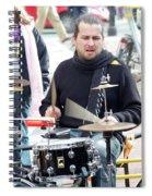 Busking Drummer Spiral Notebook