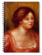 Bust Of A Woman In A Red Blouse Spiral Notebook