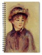 Bust Of A Woman Wearing A Hat 1881 Spiral Notebook