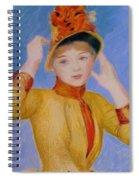 Bust Of A Woman Yellow Dress Spiral Notebook