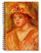 Bust Of A Young Girl In A Straw Hat 1917 Spiral Notebook