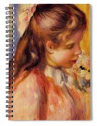 Bust Of A Young Girl Spiral Notebook